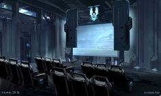 Halo HoloLens E3 Experience - Screening Room Concept Design View more images by Scribble Pad Studios @ www.ScribblePadStudios.com ©Microsoft Studios - All rights reserved