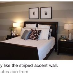 Awww I Have Always Wanted The Pin Striped Accent Wall! Gestreifte Tapete,  Ankleidezimmer,
