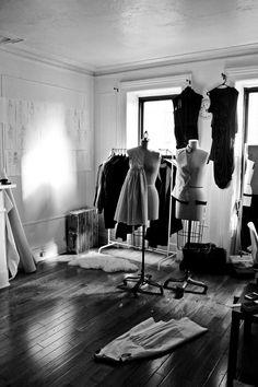 Fashion Design Studio - cool, creative spaces; fashion designer's workspace