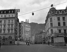 [Avenida Jiménez con Carrera Séptima] / Saúl Orduz / c.a. / 1950 / Colección Museo de Bogotá: MDU-7211 / Todos los derechos reservados