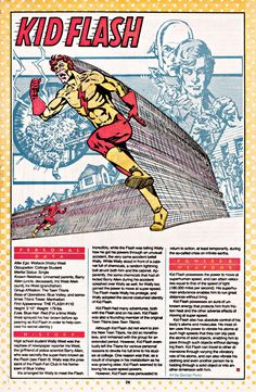 Kid Flash Dc Comics Superheroes, Dc Comics Characters, Marvel Dc Comics, Comic Book Covers, Comic Books Art, Comic Art, Teen Titans, Hq Marvel, Marvel Facts