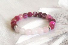Pink Agate, Beaded Bracelets, Jewelry, Jewlery, Jewerly, Pearl Bracelets, Schmuck, Jewels, Jewelery