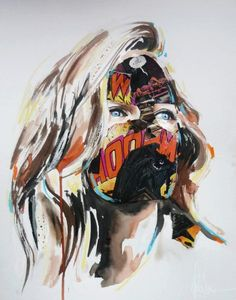 Cages, the new series from self-taught Canadian artist Sandra Chevrier, is about the never-ending struggle with conventions, society and expectations. Women all over the world have to face society´s twisted and artificially created preconceptions of being beautiful and perfect. Chevrier´s approach is to make this inner struggle visible and perceivable. Sandra Chevrier, Portraits, Canadian Artists, Prints, Painting, Inspiration, Beautiful, Collage, Google Search