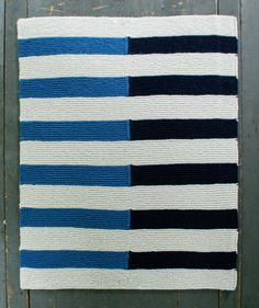 Shadow Stripe Baby Blanket by The Purl Bee