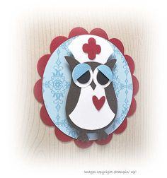 Handmade Get Well Card  Owl Nurse by CardCreationsbyBeth on Etsy, $3.00