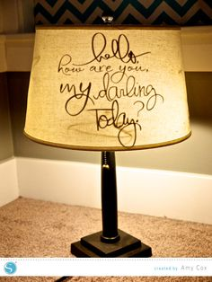 Lamp Shade Refashion | Amy Cox for Silhouette made with Vinyl