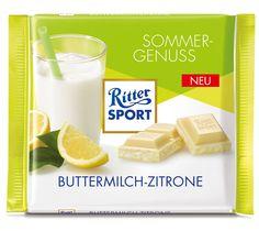 RITTER SPORT Sommersorte Buttermilch-Zitrone (2015)