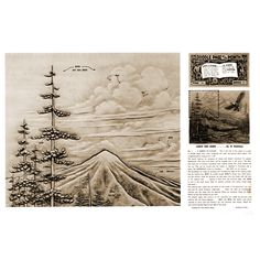 Leathercraft Library - Carve This Scene a Lesson in Clouds by Al Stohlman (Series 11 Page 11)