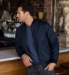 Wythe Cotton And Nylon Bomber Jacket Rich Lifestyle, Luxury Lifestyle, Tobias, Nylon Bomber Jacket, Urban Cowboy, Fashion Outfits, Mens Fashion, Gentleman Style, Real Man