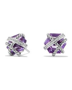Cable+Wrap+Earrings+with+Amethyst+and+Diamonds+by+David+Yurman+at+Neiman+Marcus.