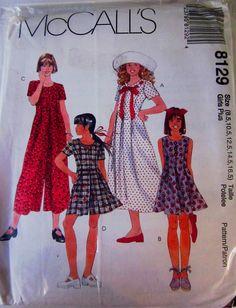 McCalls 8129 Girls Romper Jumpsuit Dress in Half by Denisecraft, $5.99