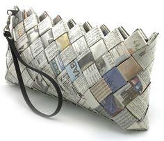 Baguette - Newspaper - Newspaper Handbags & Purses - Ecoist.com - via http://bit.ly/epinner
