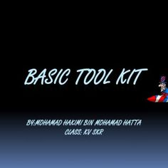 BASIC TOOL KIT BY:MOHAMAD HAKIMI BIN MOHAMAD HATTA CLASS: KV SKR   Wrist strap An antistatic wrist strap, ESD wrist strap, or ground bracelet is an antist. http://slidehot.com/resources/basic-tool-kit-to-open-computer.45504/