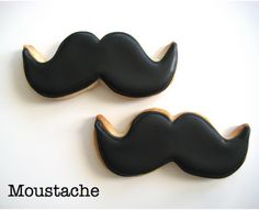 Mustache Shaped Cookies. Too funny. Great for a bachelor party. Except boys don't care what cookies look like ;) #mustache #cookies