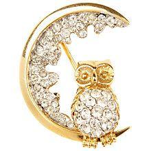 Susan Caplan Vintage 1960s Atwood & Sawyer Swarovski Crystal Night Owl Brooch Online at johnlewis.com