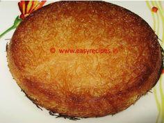 KUNAFA (Arabic Sweet dessert) | Easy Recipes | Vegetarian Recipes | Non Vegetarian Recipes | Free Recipes EBook's & Henna Mehndi Designs