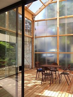Diy Greenhouse Plans, Porch Greenhouse, Farm Stay, She Sheds, Garden Studio, Breezeway, Diy Door, Glass House, House Goals