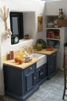 dollhouse miniature Cornish Kitchen, Magpie Cottage | Flickr - Photo Sharing: