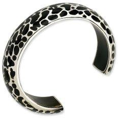 Sterling Silver Black Resin Cuff Bracelet - JewelryWeb JewelryWeb. $192.00. Save 50% Off!