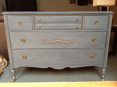 SOLD Slate Sideboard Dresser by WisteriaAve on Etsy, $300.00