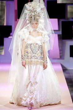 Wedding dress in Russian style by Christian Lacroix. #bride #dress #Russian  #weddings