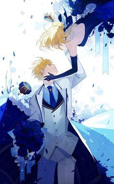 Altria and Arthur Pendragon Anime Couples Manga, Cute Anime Couples, Anime Guys, Manga Anime, Fate Zero, Manhwa, Character Art, Character Design, Arturia Pendragon