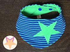 Kinder-Wende-Dreieckstuch *Sternchen-Streifen* von Moly's Zauberwelt auf DaWanda.com