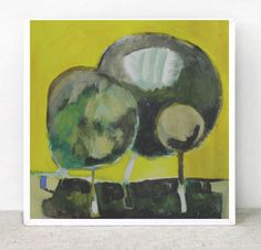 Original Painting   .Free Shipping  'Yellow by ARTGALERYPAINTING, $155.00