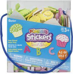 sweet shop foam stickers - 4.5 oz.