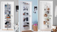 Storage solutions and made-to-measure sliding doors Sliding Doors, Storage Solutions, Bathroom Medicine Cabinet, Shelving, Locker Storage, Drawers, Furniture, Home Decor, Shelves
