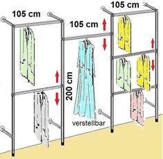 Begehbarer Kleiderschrank,KLEIDERSTÄNDER,KLEIDERSTANGE,GARDEROBE, NEU, Art. W.13 in Möbel & Wohnen, Möbel, Schränke & Wandschränke | eBay