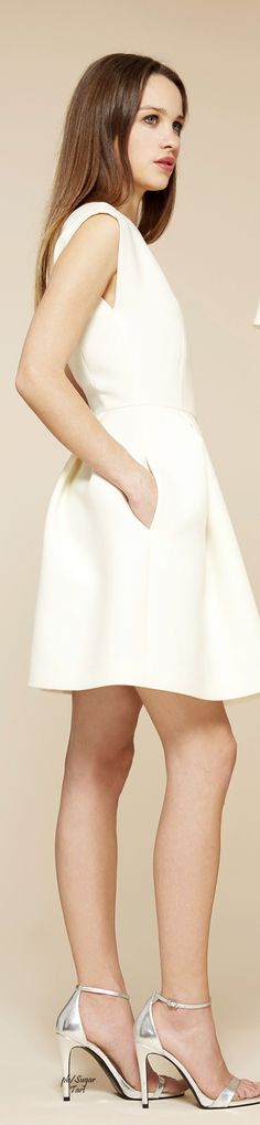 Cacharel Fall 2015 RTW Couture, All White, Fall 2015, White Dress, Stylish, Womens Fashion, Collection, Dresses, Vestidos