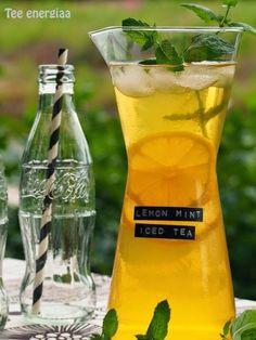 Hurricane Glass, Mint Iced Tea, Lemon, Koti, Carafe, Tableware, Tea Time, Drinks, Recipes