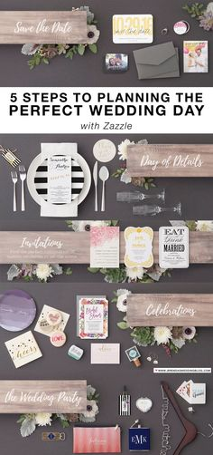 5 Steps to Planning the Perfect Wedding Day with Zazzle