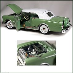 With openable doors & hood. 1:24 scale diecast collectible model car. GREEN UN-BOXED. UPC: 792674240164. | eBay!
