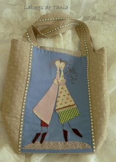 bag (attach an appliqued panel) Patchwork Bags, Quilted Bag, Sewing Crafts, Sewing Projects, Art Textile, Jute Bags, Diy Embroidery, Handmade Bags, Leather Craft