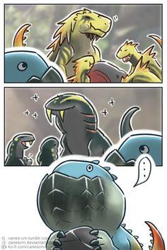 Monster Hunter - Geek World Monster Hunter Memes, Monster Hunter World, Monster Hunter 4 Ultimate, Cry Anime, Anime Art, Anime Chibi, Fantasy Creatures, Mythical Creatures, Funny Monsters