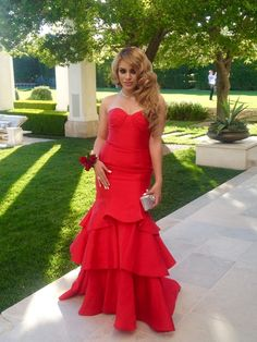 Loving red!! #Prom2k15