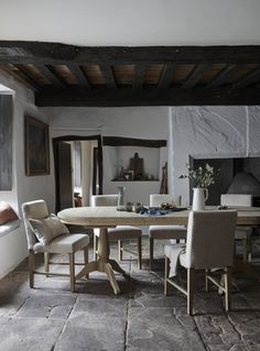 Chris Everard shoots Autumnal story for Neptune with interiors styling by Amanda Koster. French Farmhouse, Rustic Farmhouse, Farmhouse Fireplace, Cosy Interior, Interior Styling, Kitchen Furniture, Furniture Making, Dining Room Fireplace, Dining Rooms