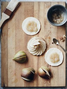 Making pear tarts by Nikole of 46th at grace
