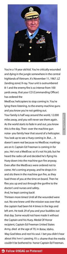 The Captain and his Huey. Read this, such a sweet man and brave too!