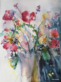 Flowers in Vase by Ólöf Svava