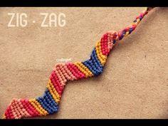 Pulsera de hilo: Zigzag     Friendship Bracelet zigzag pattern tutorial