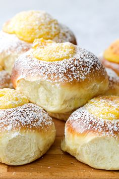 Just Desserts, Delicious Desserts, Yummy Food, Bakery Recipes, Cooking Recipes, Custard Buns, Breakfast Recipes, Dessert Recipes, Sweet Buns