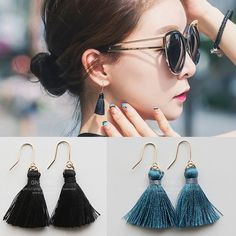 Find More Information about 2016 Popular Gift Korean Style Trend Small Tassel Drop Earring Yarn Dangle Summer Earring ,High Quality earrings opal,China earrings wing Suppliers, Cheap earrings antique from Fashion Smile-Enjoy Your Life on Aliexpress.com