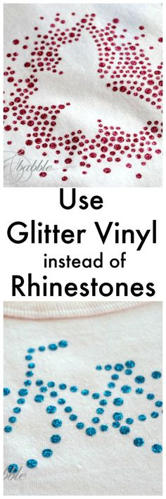 Use Glitter Vinyl instead of Rhinestones