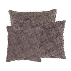 Created by an old-school stitching technique, our cotton decorative pillow pops with rich, modern colors. Featherdown insert included.
