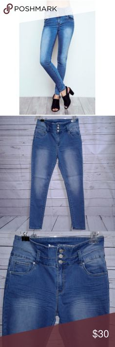 "Ibiza Better Booty High Waist Stretch Jeans Ibiza Better Booty High Waist Stretch Jeans Juniors Size 13 NWT  Measurements: Waist  31"" Length 41"" Inseam 30"" Condition: New with Tags Better Booty Jeans Skinny"