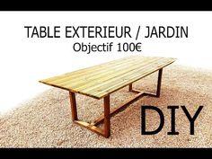 Fabriquer une table extérieur jardin DIY Facile et pas cher. Toutes les explications dans la vidéo. N'hésitez pas à vous abonner pour suivre mes autres tuto.
