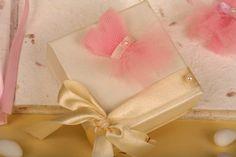 μπομπονιέρα κουτί με χειροποίητο τούλινο φορεματάκι...